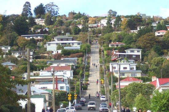最陡斜的街道Baldwin Street