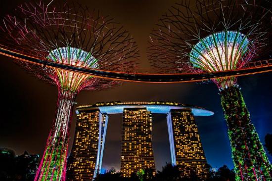 夜遊GardensByTheBay濱海灣花園