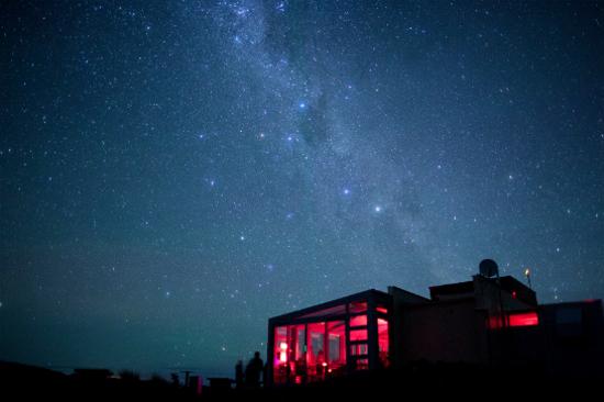 夜晚的約翰山天文台咖啡廳