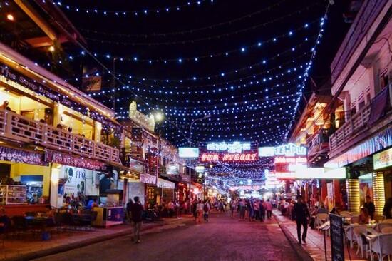 暹粒夜市、酒吧街