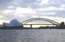 (由麥加里夫人石椅方向影)悉尼大橋及歌劇院