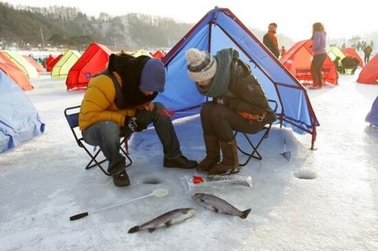 平昌冰釣體驗