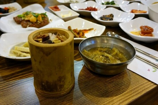 潭陽竹筒飯料理