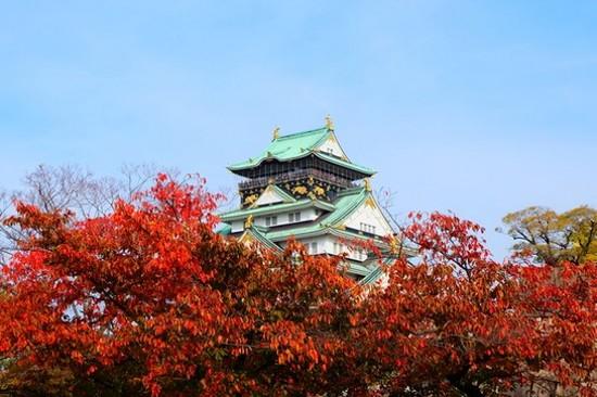 「賞紅葉名所」大阪城