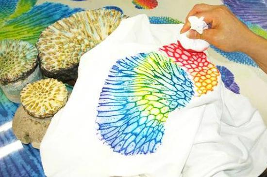 琉球珊瑚染 T恤DIY