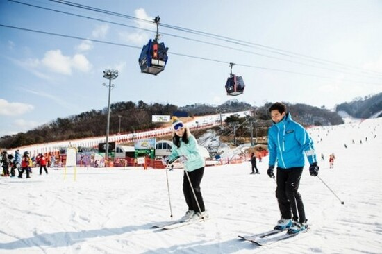 洪川大明滑雪埸 江原道