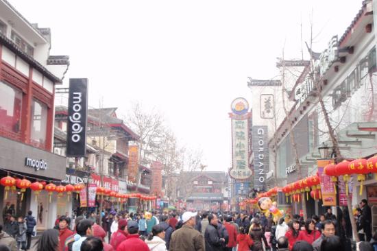 秦淮河畔夫子廟步行街