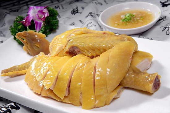 白切蔥油走地雞宴