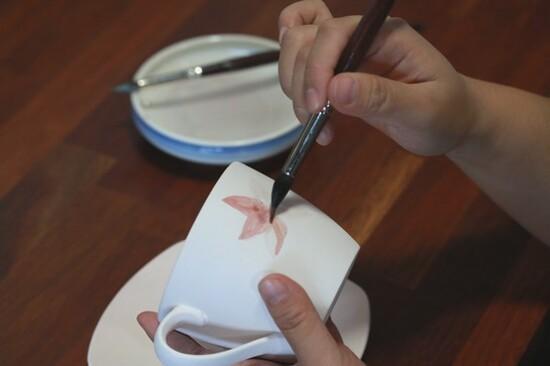 白瓷彩繪體驗