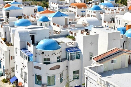 牙山「小希臘」地中海村Blue Crystal Village
