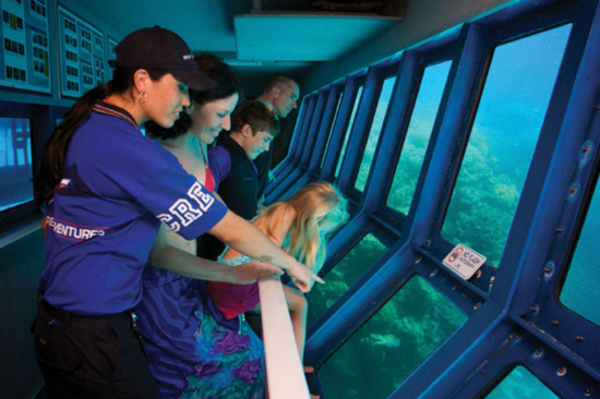 半潛艇觀賞珊瑚礁