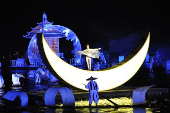 山水歌舞表演〈印象劉三姐〉