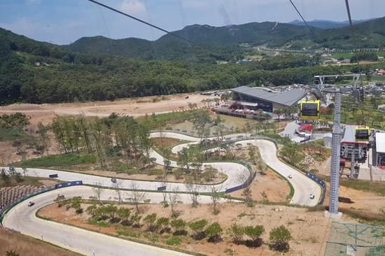 江華島SKYLINE LUGE斜坡滑車體驗