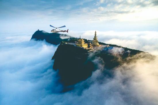 直升機空中禮佛之旅