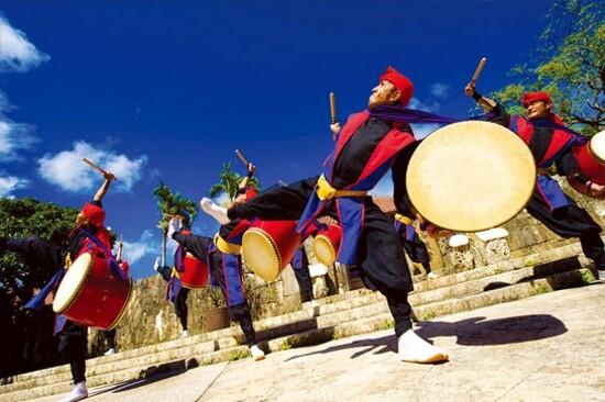 琉球王國村太鼓表演