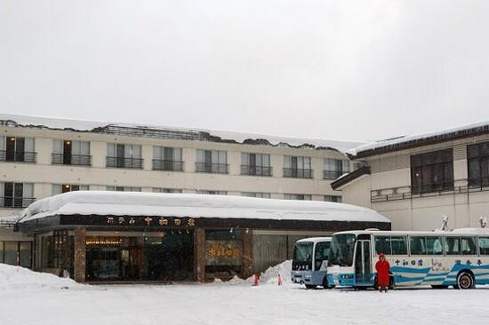 十和田莊溫泉酒店冬天.