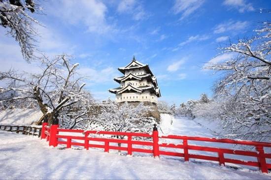 弘前城公園冬天