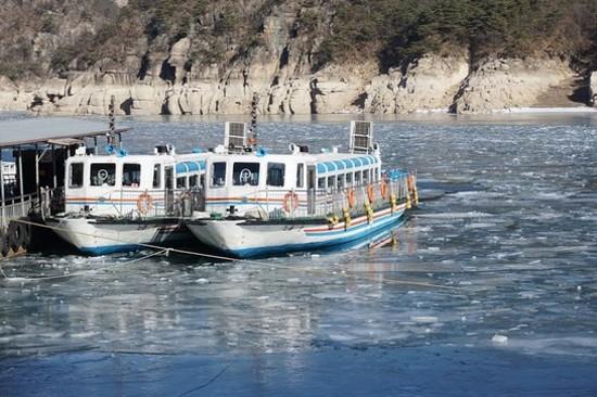 忠州湖遊船破冰體驗