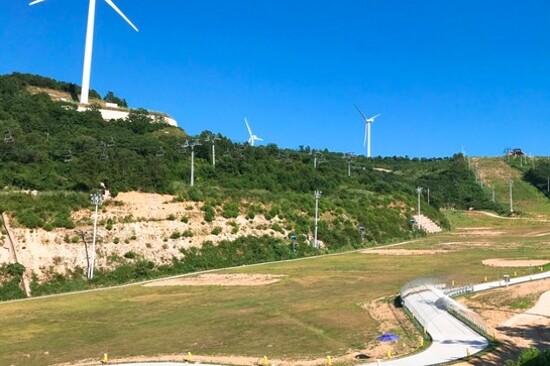 梁山Skyline Luge斜坡滑車體驗