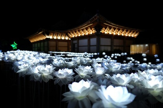 《增遊》涯月邑禪雲精舍(賞夜燈)