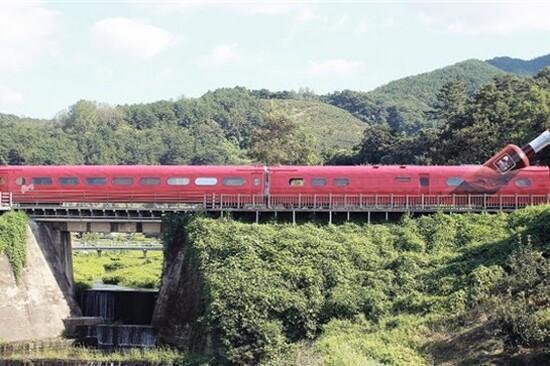 金海洛東江Rail Bike體驗~紅酒隧道