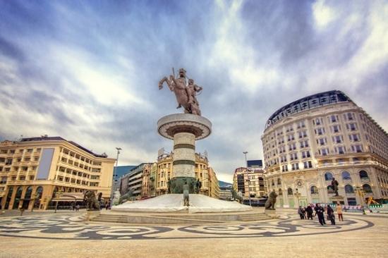 斯科普里~阿歷山大銅像