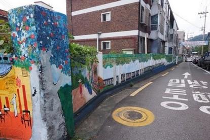 延南洞壁畫街