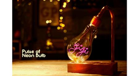 仿霓虹燈泡座 Neon Light Bulb Stand【觀塘】(需二次確認)