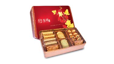 皇玥 - 新年特級精選禮盒 (蝴蝶酥、蛋卷、黃金脆條、脆曲奇) (電子換領券) $245