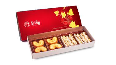 皇玥 - 新年經典精選禮盒 (紙盒裝: 蝴蝶酥、黃金脆條) (電子換領券) $105