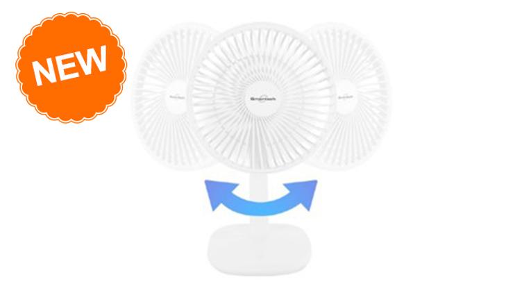 """[預購] Smartech """"Smart Leisure"""" 充電座枱式搖擺風扇 (SF-8488) 原價$498 優惠價$218"""
