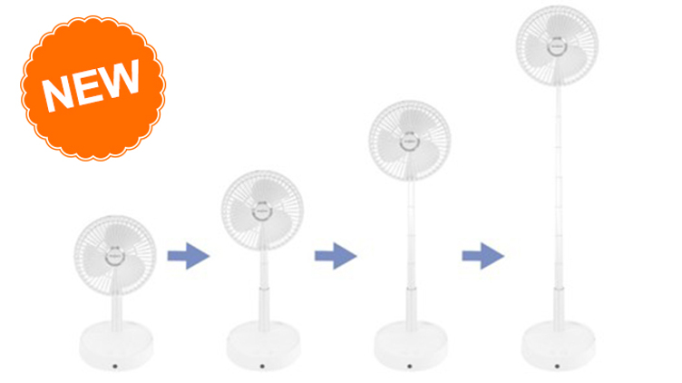 """[預購] Smartech """"Smart Wind"""" 充電摺疊式伸縮搖擺風扇 (SF-8688)原價$998 優惠價$438"""