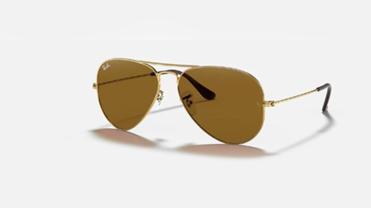 Ray-Ban Aviator 太陽眼鏡 (RB3025)-B15 金框 x 啡鏡$938起/每副 原價$1500起