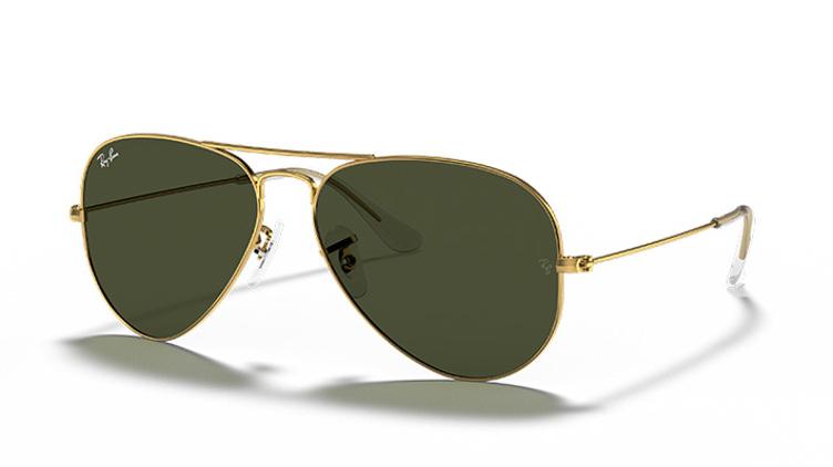 Ray-Ban Aviator 太陽眼鏡 (RB3025) - G15 金框 x 綠鏡$938起/每副 原價$1500起