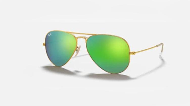 Ray-Ban Aviator 太陽眼鏡 (RB3025) - 水銀 砂金框 x 綠鏡 $1128起/每副 原價$1700起