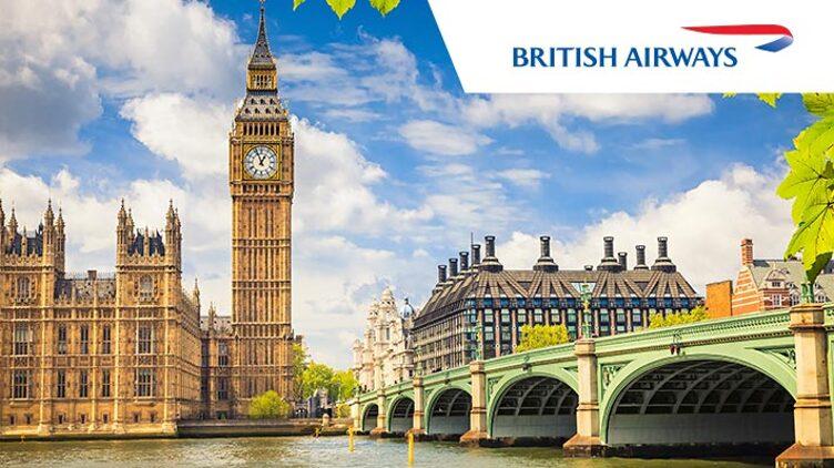 英國航空 (BA) 往 倫敦 HK$5090起